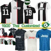 camisetas de fútbol tailandés al por mayor-Tailandia 19 20 camisetas de la Juventus RONALDO DE JUVE Ligt Dybala HIGUAIN BUFFON Inicio distancia Camisetas Futbol Camisas Maillot camiseta de fútbol XXS-4XL