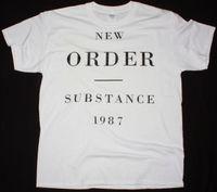 neue wellen t-shirts großhandel-NEW ORDER STOFF 1987 ALTERNATIVE NEW WAVE JOY DIVISION NEW WHITE T-SHIRT