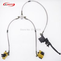 Wholesale disc brakes bike parts for sale - Group buy 1Set in Front Handle Lever Hydraulic Disc Brake Fit For Kids ATV cc cc cc Scooter Bike Go Kart Buggy UTV Scooter Part