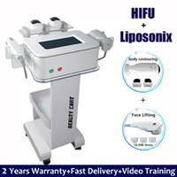 máquinas de pérdida de grasa cara al por mayor-10.000 Disparos Liposonix cuerpo adelgazar máquina HIFU elevación de cara del retiro de la arruga 2 EN 1 HIFU Liposonix la pérdida de grasa de eliminación de Peso