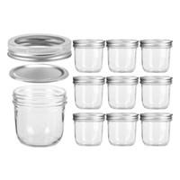 ingrosso contenitore crema s-10pcs / set 100ml Jar Clear Glass Bottles Makeup Cream Nail Art Contenitore cosmetico Round Bottle bottiglia di vetro portatile trasparente