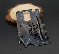 couteaux de poche multifonctions achat en gros de-Multifonction en acier inoxydable ninja Slim carte couteau en plein air Chasse Camping outil de survie Décapsuleur mini Pocket Couteaux portefeuille EDC outil