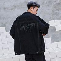 frauen schwarze jeansjacke großhandel-Männer Denim Jacken 2019 Neue Ankunft Jacke Frauen Vintage Style Webkante Jean Mäntel Modemarke Kleidung Schwarze Denim Mäntel * 05