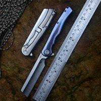 männer flossen großhandel-CH Flipper Taschenmesser Man S35VN Klinge Kugellager Titan Griff Klappmesser für Geschenkkollektionen