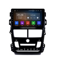 зеркало заднего вида dvr gps оптовых-HD сенсорный экран 9-дюймовый Android 9.0 автомобильный стерео для 2018 Toyota Vios с WIFI GPS Navi Mirror Link поддержка камеры заднего вида автомобильный DVD OBD DVR