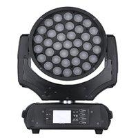 led personalizado venda por atacado-A iluminação personalizada da veste 37x10w com zoom rgbw do funtion 4in1 conduziu o pisco de peito vermelho movente 600 da luz da lavagem da cabeça