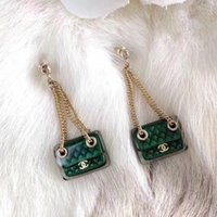 Wholesale clothes studs resale online - 2019 top famous designer gold plated bag earrings fashion stainless steel earrings women s clothing