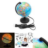 светильники для дома оптовых-17 см светодиодные земной мир глобус карта Земли география образование игрушка карта с вращающейся подставкой украшения дома офис орнамент