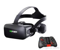 virtuelle realität google 3d kunststoff karton großhandel-VRPARK J20 VR Brille eine Maschine Virtual Reality VR 3D Brille Panorama Stereo Scopic Virtual Reality Brillenspiel