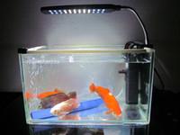 mavi hafif balık toptan satış-Balık Tankları Için LED Klip Akvaryum Işıkları Kiti led lgihts, 24 LEDS, Açık renk Beyaz ve Mavi