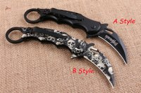 Wholesale karambit knives sale online - Hot Sale Skeleton Fox FA33 Karambit Claw Folding Pocket Knife Steel Blade Outdoor Survival Tactical Hunting Knives Inch Closed P162R F