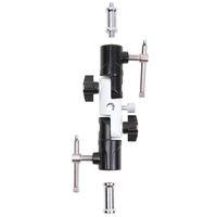 tipos de suportes giratórios venda por atacado-3 seção em forma de u tipo suporte giratório de flash para guarda-chuva suporte de luz suporte ajustável fw889
