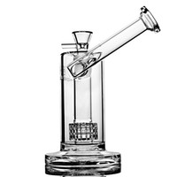 Wholesale tube water pipes for sale - Group buy Mobius Stereo Matrix perc new recycler oil rigs glass water bongs pipes for smoking Tube with Stereo Perc heady glass oil Bong