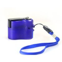 Wholesale new version mobile for sale - Group buy Hand Shake Phone Charger Mobile Power Supply Emergency Powers Generator Single Version Blue Adult New Arrival gf C1