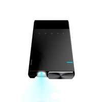 micro hdmi led al por mayor-Mini Proyector Ultra Mini Proyector portátil 1080p Compatible con HD DLP LED Recargable Pico Projector con HDMI, USB, TF y Micro SD