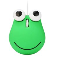 Wholesale gaming console for pc for sale - Group buy 1200 Dpi Wired Optical Gaming Mouse Cute Animal Frog Mouse Usb For Pc Laptop Game Console Cyan Plastic