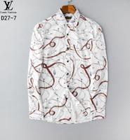 camisas de seda negras para hombres al por mayor-Oro Negro Leopart camisa de la impresión del terciopelo camisa transparente de los hombres 2019 otoño largo negocio de la manga de seda de flores immiate hombres # R023