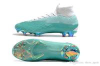 fútbol volador al por mayor-Nike Mercurial SuperflyX VI Elite CR7 2018 Mercurial Superfly VI 360 Elite FG Fly Knit Kids de fútbol para hombre Botines Cr7 chaussures Crampones de fútbol botas de fútbol Eur 35-45