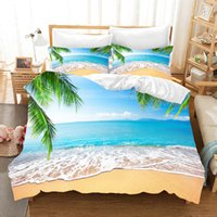 Wholesale 3d bedding set dolphins for sale - Group buy 3D Summer Beach Duvet Cover set Soft Gift Dolphin Bedding set comforter Bed Pillowcase Queen King bedding comfortable