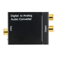 qualität rca kabel großhandel-Hochwertiges digitales optisches Adapter-Koaxial-Cinch-Toslink-Signal zum analogen Audiokonverter-Adapterkabel 3,5 mm