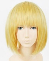 темно-блондинка парик косплей оптовых-Парик Бесплатная Доставка Япония Аниме Атака на Титан Армин Арларт Короткая Темно-Блондинка Парик Косплей