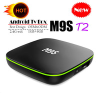 transmisión de video en android al por mayor-Caja de TV Android original Quad Core M9S T2 Caja de TV Android H3 Quad Core 1GB 8GB 4K H.265 1080P Mejor MXQ PRO RK3229 S905W