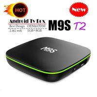ingrosso antenna android tv box-Quadro TV originale Quad Core Android M9S T2 Quad Core 1 GB 8 GB 4K H.265 1080P Streaming video H3 TV Box Android Migliore MXQ PRO RK3229 S905W