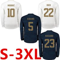 Wholesale jersey 3xl resale online - 19 HAZARD Real Madrid Long Sleeve soccer jersey XL JOVIC camiseta de fútbol VINICIUS football shirt XXXL camisa de futebol