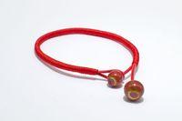 cerámica redonda roja al por mayor-Minimalista hecho a mano cadena redonda bolas de grano de cerámica pulseras para hombre mujer bohemio punk rojo negro color de moda brazaletes de joyería