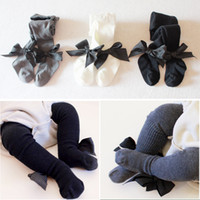 Wholesale baby hoses for sale - Group buy Baby Bowknot Tights Solid Panty hose Kids Childrens Girls Dance Socks Ballet Tights Pantynose Soft Cotton Stockings Leggings