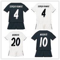 spanien jugendfußball jersey großhandel-2019 Kinder Trikot Real Madrid Spanien Jugendjunge Kind BALE Modric Kroos Sergio Ramos VINICIUS JR ASENSIO ISCO Heimtrikot
