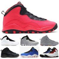 çelik ayakkabılar toptan satış-2019 Çöl Camo 10 s Açık Ayakkabı Retro Woodland Orland Çimento 10 Westbrook ben geri Koyu Duman Gri Çelik Gri Erkekler spor Sneakers 40-47