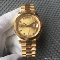 relojes mecánicos para la venta al por mayor-Venta al por mayor CALIENTE reloj de venta DÍA FECHA mecánica 40MM relojes para hombre Bisel de acero inoxidable Correa de acero inoxidable relojes deportivos