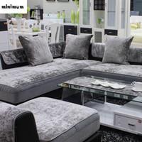 moderne kunstsaison großhandel-Europäische Art vier Jahreszeiten Sofabezug Gleitschutzleder General Plush Tuch Sofabezug moderne Schonbezug versandkostenfrei