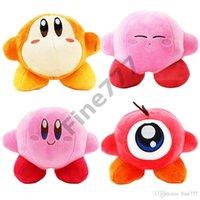 kirby doldurulmuş oyuncaklar toptan satış-Çocuklar Hediyeler için Pembe Yıldız Kirby Kawaii Peluş Oyuncak Kirby Peluş Oyuncak Red Hat Kirby Peluş Bebek Oyuncakları