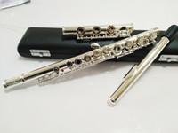 электронная флейта оптовых-Japan флейта 517 17 Закрытое отверстие с ключом E YFL 517H 17 открытое отверстие серебряная пластина с ключом E C флейта профессиональный музыкальный инструмент трансверсальный