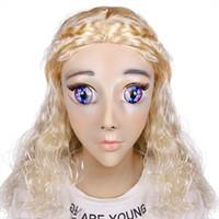 benutzerdefinierte sexy maske groihandel-Erstklassige Mädchen Luxus benutzerdefinierte Make-up Calaxy Baby DMS Maske Miss Rose! Silikon sexy weibliche crossdress maske corssdresser puppe maske