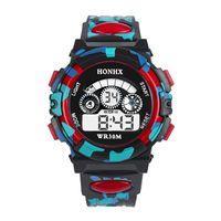 спортивные часы для девочек оптовых-Shellhard Multifunction Chidren Digital Watches Boys Girls Child Rubber Sports Electronic Wrist Watch Kids LED Date Clock