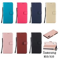 Wholesale sheep skin wallets for sale - Group buy For Samsung Galaxy M10 A10 A20 A30 A50 M20 A40 A70 Strap Sheep Flip Wallet Leather Case Stand ID Card Money Skin Cover Colorful Luxury