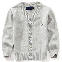 suéter nuevo para niños al por mayor-2019 Moda New Kids Sweater Otoño Niños Polo Cardigan Coat Baby Boys Girls chaqueta de un solo pecho Suéteres desgaste exterior