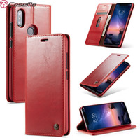 Wholesale magnetic sony xperia online – custom Caseme Wallet Leather Case For Samsung A7 A9 Sony Xperia XZ3 Redmi NOTE6 Pro A Magnetic Colorful Retro Vintage Flip Skin Cover