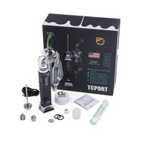 Wholesale enail temperature controller resale online - Greenlightvapes G9 TC PORT wax dab rig oil Portable enail wax vaporizer with glass dab pipe Temperature Controller glass bubbler