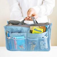 einlage einfügen großhandel-Mode Kosmetiktaschen Einfügen Handtasche Organizer Tragbare Große liner Ordentlich Organizer Tasche Frauen Reise Make-Up Taschen RRA977