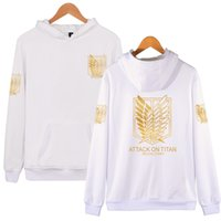 Wholesale attack on titan online - Attack On Titan Hoodie for Men Women Clothing Pullovers Fashion Hooded Designer Sweatshirts