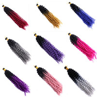 Wholesale ombre braiding hair online - Synthetic Braiding Hair Bulk Crochet Water Wave Inch Strands Ombre Color Synthetic Hair Extensions In Stock