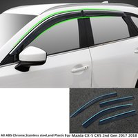 Wholesale parts for mazda car for sale - Group buy Top quality For Mazda CX CX5 nd Gen car styling cover plastic Window glass Wind Visor Rain Sun Guard Vent part