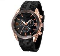 lüks saatler kauçuk kemer toptan satış-Armani watch erkekler Relojes için 2019 erkek moda izle amn3 kadranı kauçuk kayış su geçirmez saatı Lüks İzle En Marka relogies