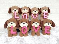 ingrosso bambole d'amore farcite-2018 Creativo carino LOVE cucciolo LOVE bambole per cani animali di peluche giocattoli regalo di san valentino peluche all'ingrosso