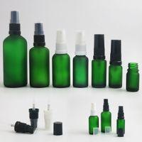15 мл зеленых бутылок эфирного масла оптовых-360 x 5ml 10ml 15ml 20ml 30ml 50ml 100ml Essential Oil Green Frost Glass Bottle With Sprayer For Liquid Reagent Pipette Portable