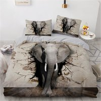 Wholesale 3d elephant bedding set resale online - ONGLYP D Elephant Bedding Set Duvet Cover with Pillow Case Single Twin Double Full Queen King Size Bedding Sets Quilt Cover